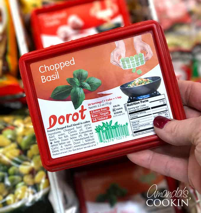 After this I'm really looking forward to tossing some Dorot basil cubes into my marinara and different pasta dishes! I love this stuff!