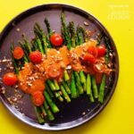Roasted Asparagus with Smoky Romesco Sauce