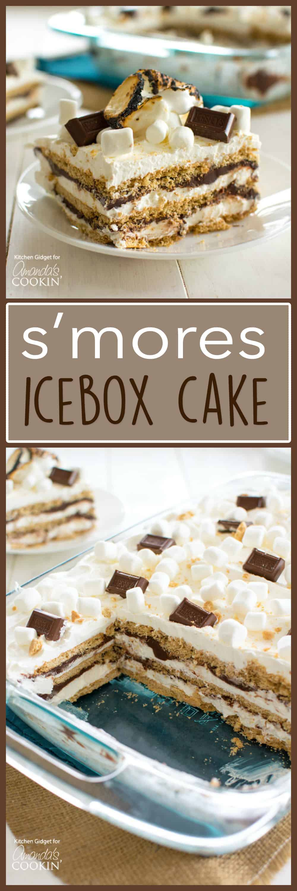 mores Icebox Cake: bring the s'mores indoors with this icebox cake!