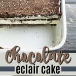 chocolate eclair cake pin image