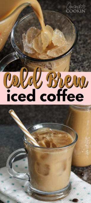 cold brew iced coffee pin image