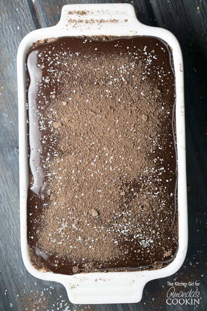 This is, hands down, the easiest chocolate eclair cake dessert you'll ever make. You're combining pudding mix, milk, and whipped topping, layering it between graham crackers, and topping it with a super simple chocolate frosting. Then chill for about 8 hours. And that's it!