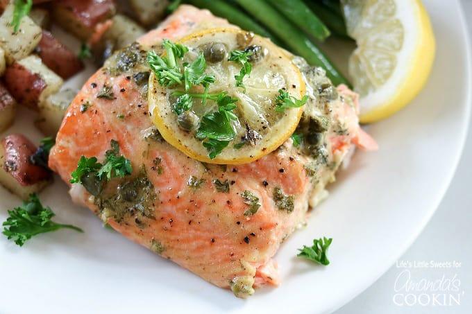 Dijon Lemon Caper Salmon recipe