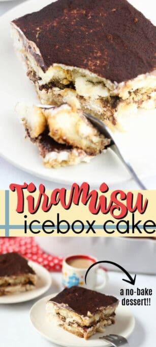 tiramisu icebox cake pin image