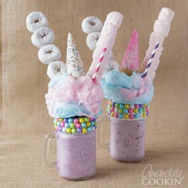 Unicorn Freak Shakes!! Freakshakes are all the rage right now and so are unicorns, so we decided to combine the two!