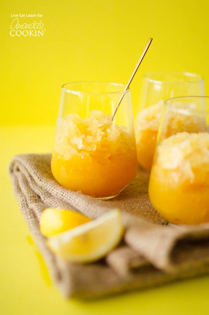 Perfect for hot summer days, this Bourbon Slush recipe is great for parties and gatherings.