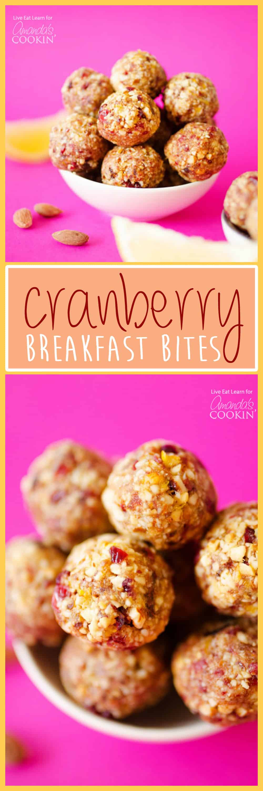 These Cranberry Breakfast Bites are an ultra-quick and simple way to fill up on antioxidant-rich fruits and healthy fats in the morning.