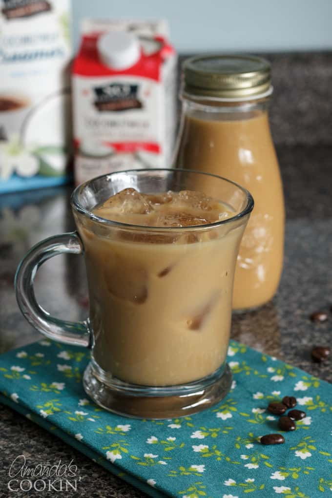 Iced coffee in mug