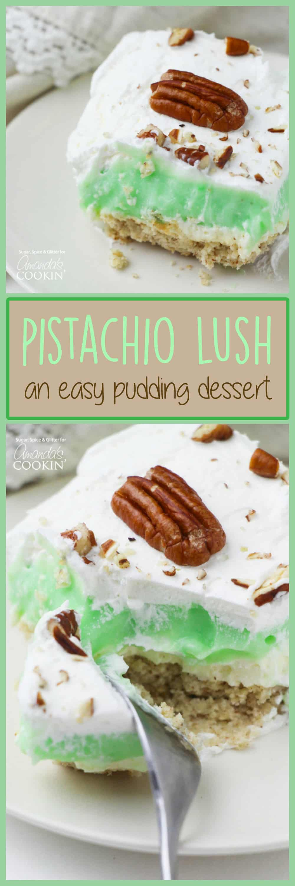 This Pistachio Lush is the perfect easy dessert for entertaining, especially when you want something decadent but not too heavy.