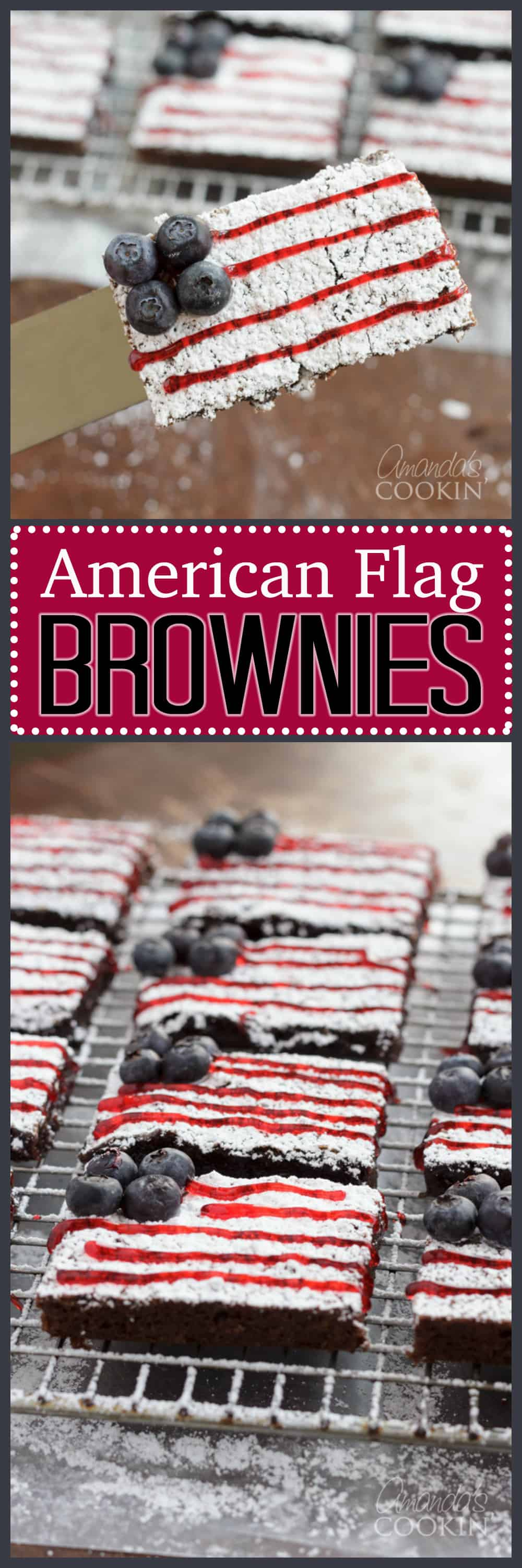Make these super easy American Flag Brownies for Memorial Day or the Fourth of July. A simple patriotic desserts with lots of wow factor!