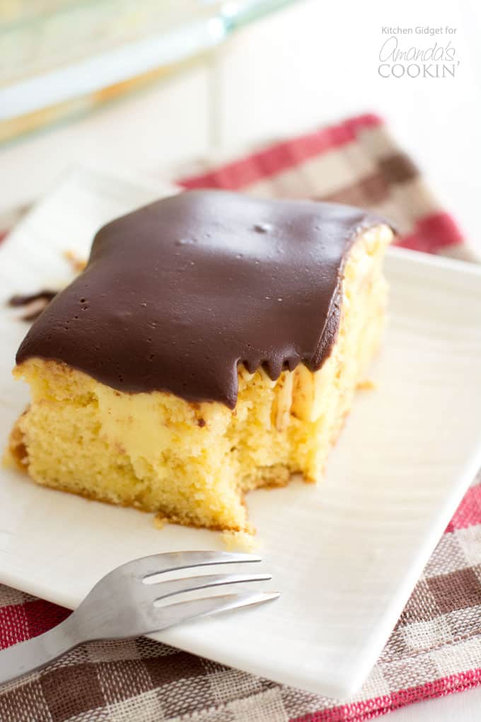boston cream cake recipe boston poke cake a delicious and easy one pan dessert 2017