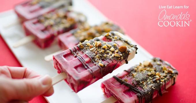 Cherry Yogurt Popsicles: an easy, healthy frozen treat for summer!