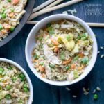 Chicken Fried Rice: every kitchen needs this go-to recipe for simple, delicious chicken fried rice! Whip up this one-skillet meal in 30-minutes!