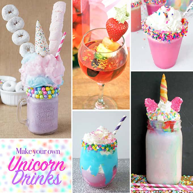 We decided to make this unicorn inspired freakshake as part of a fun little round up with some blogging friends. Here are their concoctions!
