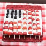 How to make American Flag Fruit Kabobs