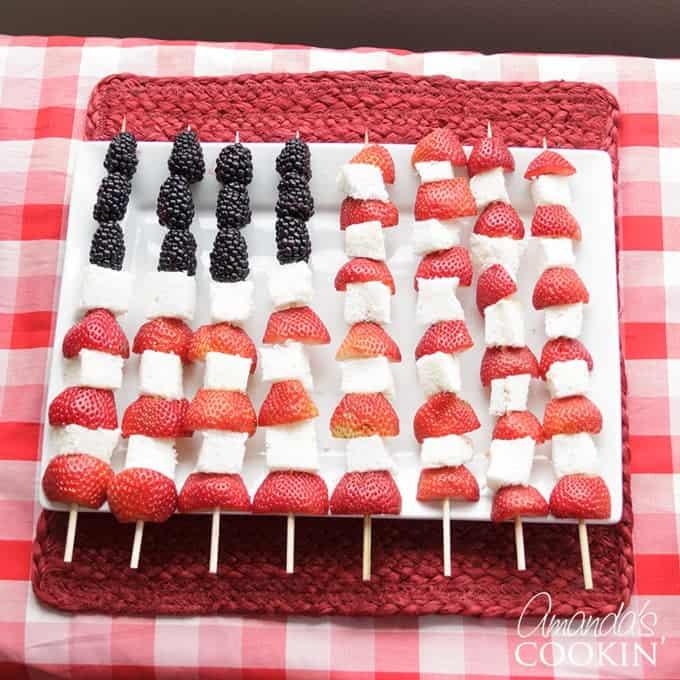 American Flag Kabobs Healthy Dessert For Patriotic Holidays