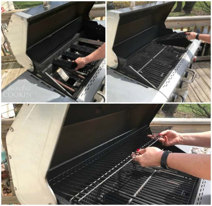 Put all the clean parts back into and on the grill.
