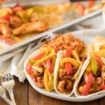 plate of chicken fajitas
