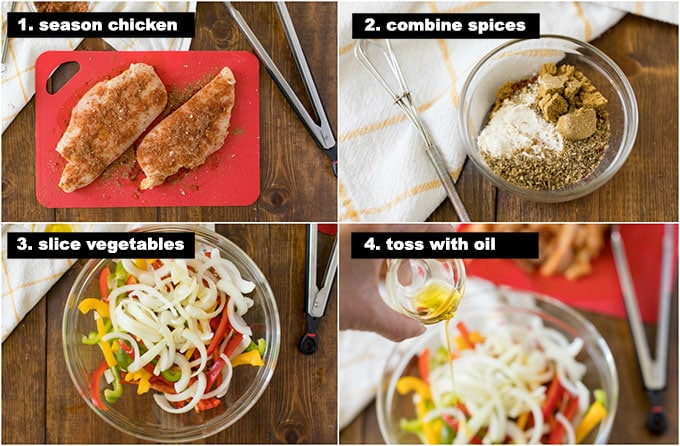 chicken fajitas - step photos for making this recipe