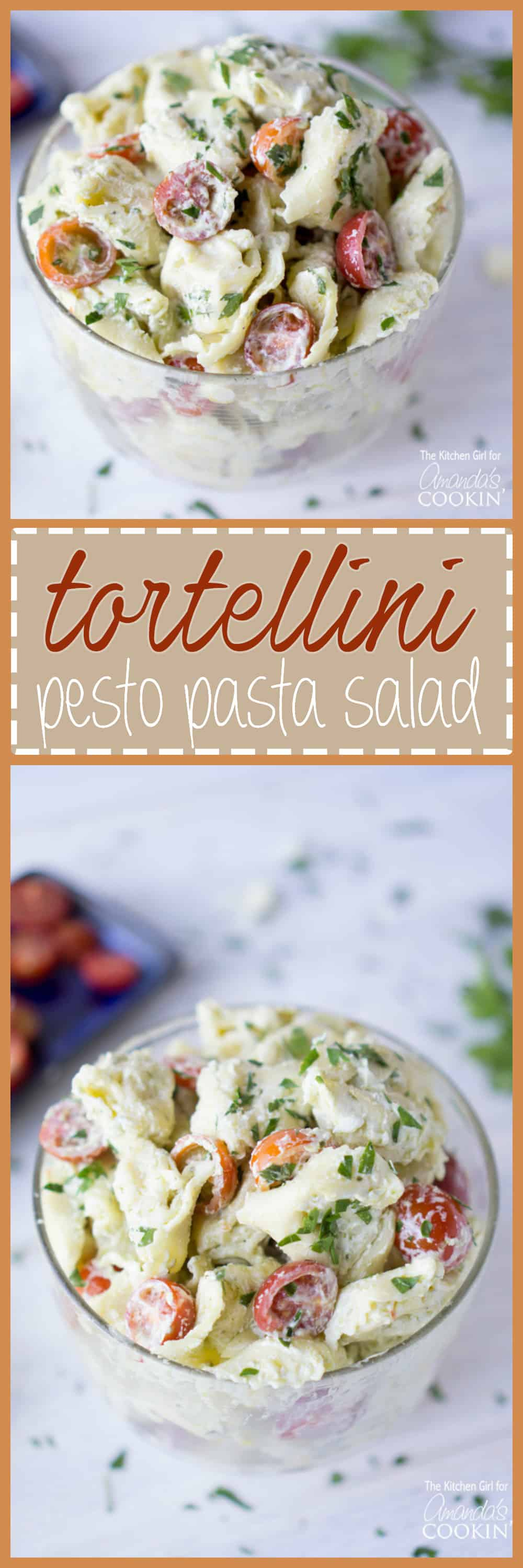 This Tortellini Pesto Pasta Salad is your ticket to another creamy, dreamy, summer pasta salad recipe. It comes together in just 20 minutes!
