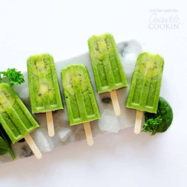 Green Smoothie Popsicles are packed with a whole serving of vegetables (though you'd never be able to tell from their creamy, sweet taste!)