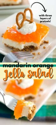 mandarin orange jello salad pin image