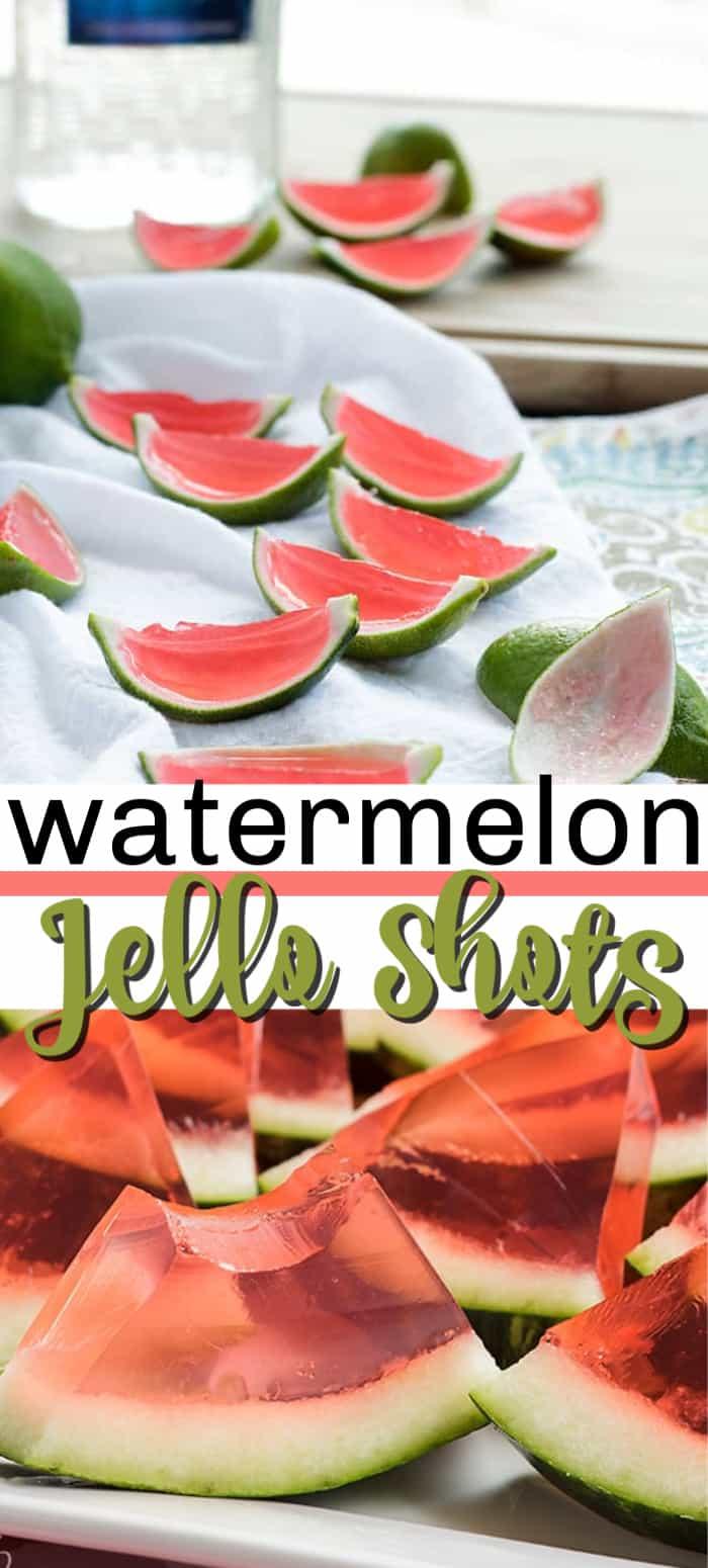 watermelon jello shots pin image