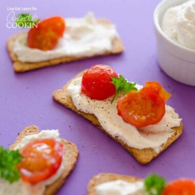 This Ricotta Whipped Feta is a delicious and spreadable way of enjoying your favorite Mediterranean cheese! A spread that pairs with virtually everything.