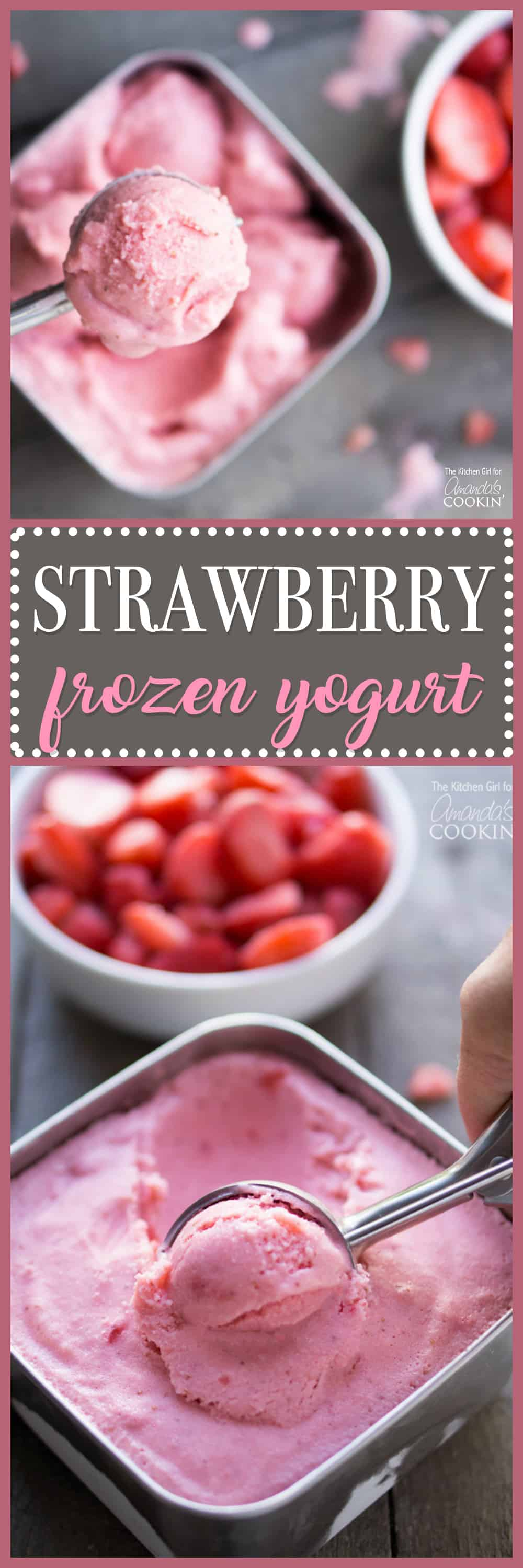 Strawberry Frozen Yogurt might just become your new favorite summer recipe! It's so easy, light, and delicious, you'll wonder why you never made it before!
