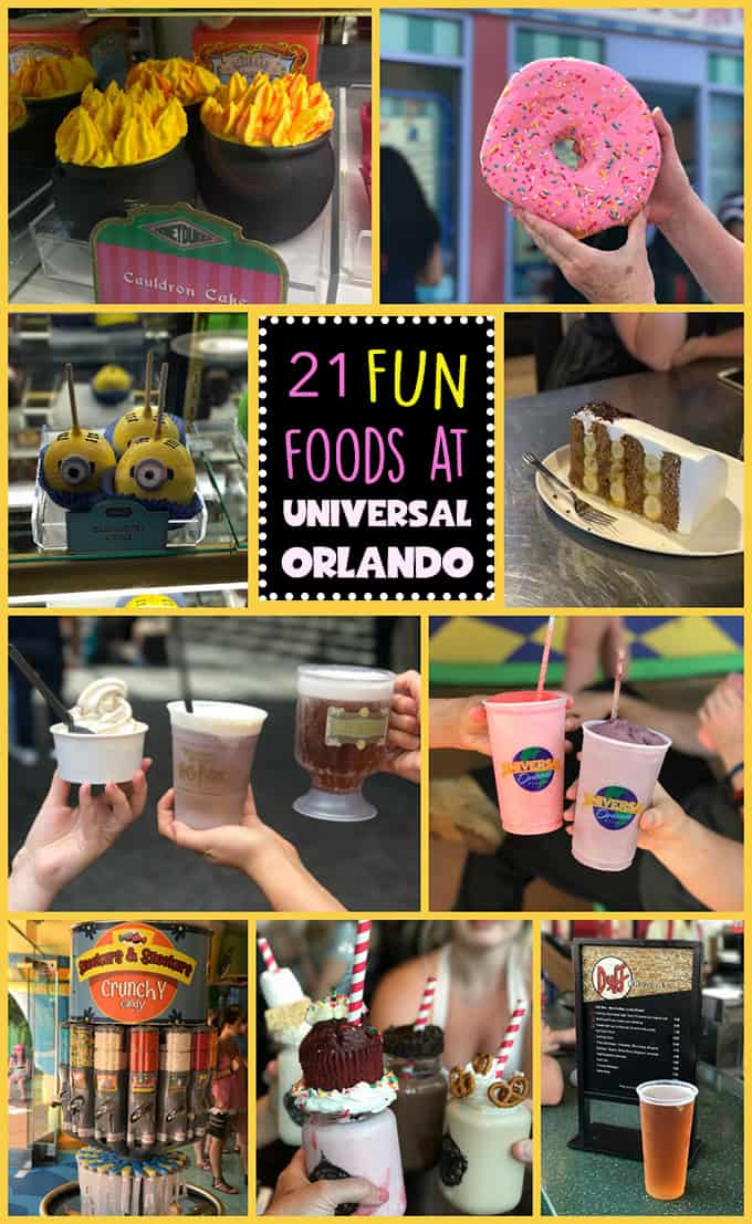 If you're planning a trip to Universal Orlando you won't want to miss some of the fun foods available all over the parks. These delectables are scattered throughout Universal Orlando, Universal Islands of Adventure and that marvelous strip in between the two parks known as City Walk. Here's a guide to the fun food you can find in between all the rides and attractions.