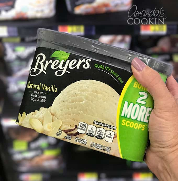 I don't know about you, but Breyers ice cream is my favorite. It's always creamy and delicious because it's made with fresh cream and milk and everything is non-GMO.