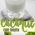 coconut rum mojito pin image