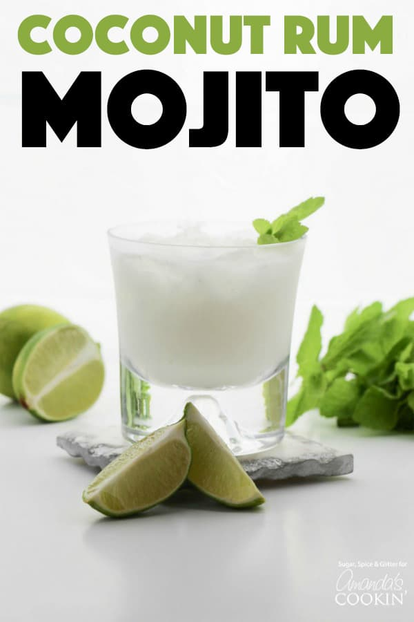 Coconut Rum Mojitos with mint