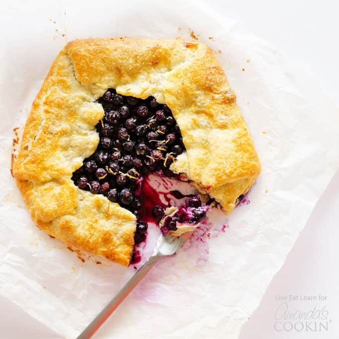 This Lemon Blueberry Galette is a rustic and simple take on pie that's just as delicious as it is easy. Who doesn't love simple desserts after all?