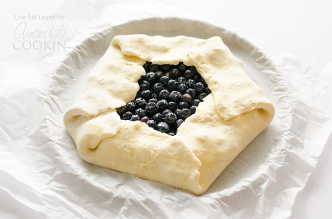 Lemon blueberry galette steps
