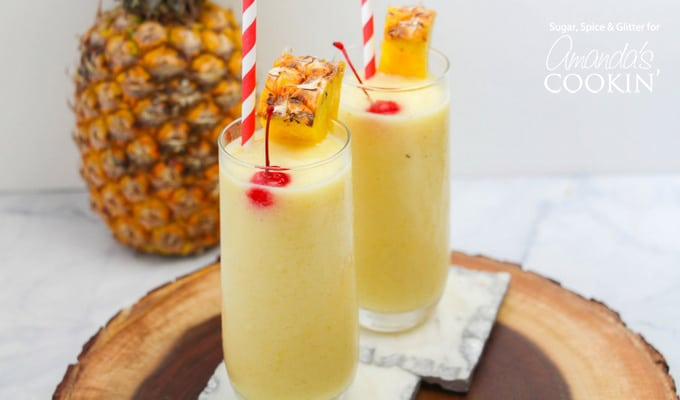 Quick and easy pineapple rum slush recipe