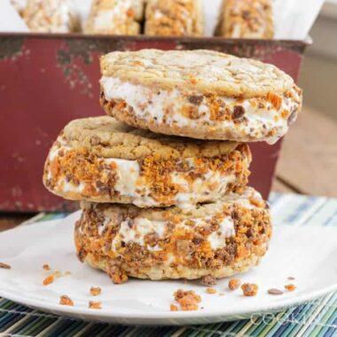 Recipe for Butterfinger Ice Cream Sandwiches
