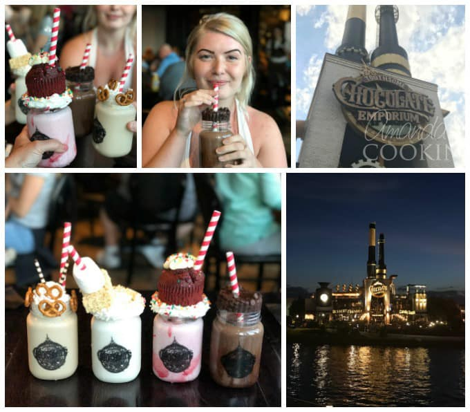 Extreme Milkshakes - Toothsome Chocolate Emporium has a full menu of appetizers, entrees and desserts. Then there are two full menu pages of just their extreme milkshakes.