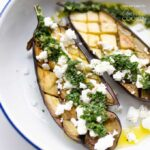 Roasted Eggplant with Herbed Mint Sauce