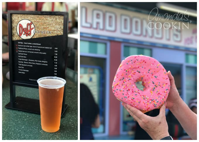 Hey Simpson fans! Get a cold glass of Duff beer and a giant Lard lad donut at Universal Studio Florida.