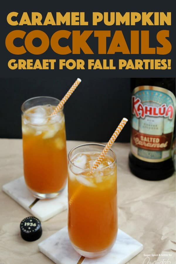 Caramel Pumpkin Cocktails for Fall!