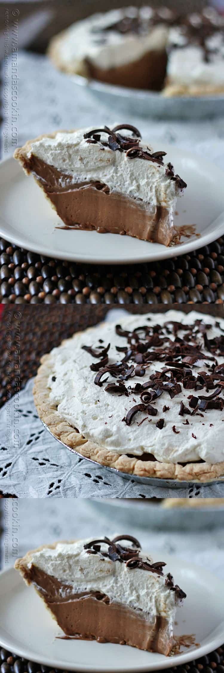 Homemade Baker's Square French Silk Pie