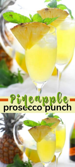 pineapple prosecco punch pin image