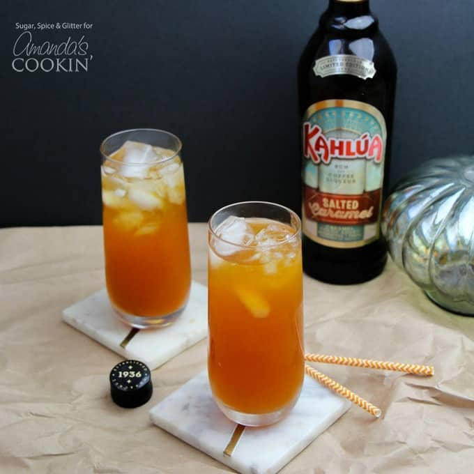 Caramel Pumpkin Cocktails with Salted Caramel Kahlua