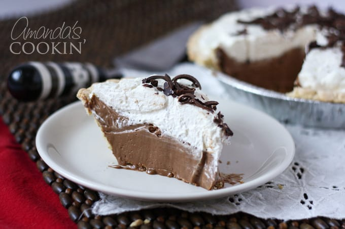 slice of french silk pie