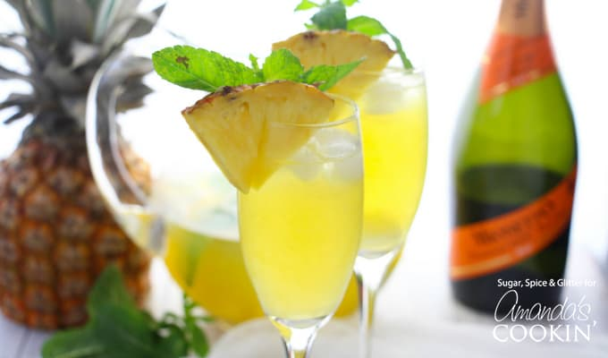 What is your go-to brunch cocktail? Do you have a special occasion coming up that this Pineapple Prosecco Punch would be perfect for?