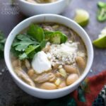 bowl of white chili
