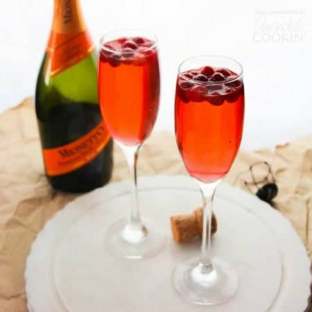This Cranberry Prosecco Punch is great for Thanksgiving morning or a crisp evening around a campfire with friends. The perfect fall cocktail!