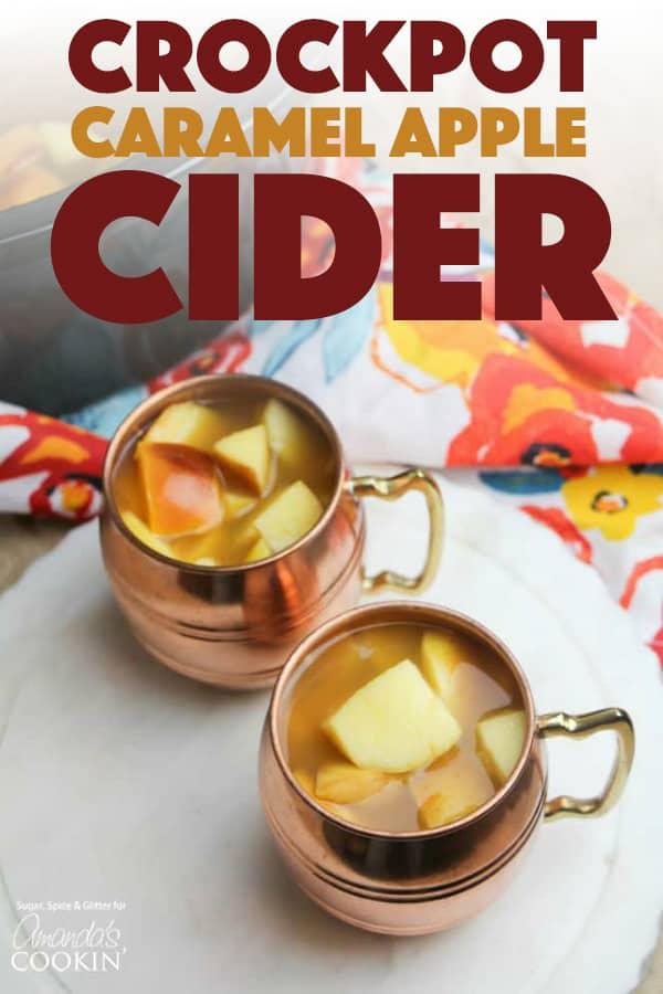 Crockpot Caramel Apple Cider