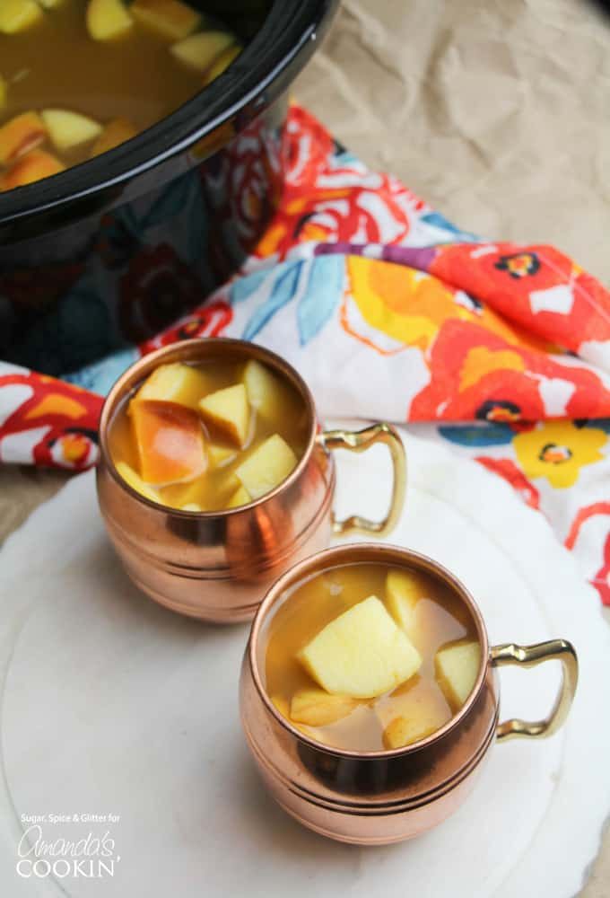 Crockpot Caramel Apple Cider- the perfect fall party drink!